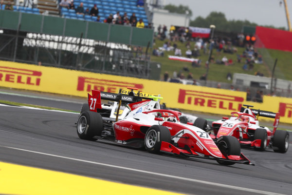 Jehan Daruvala (IND) PREMA Racing, Christian Lundgaard (DNK) ART Grand Prix and Marcus Armstrong (NZL) PREMA Racing