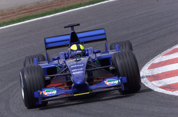 2001 Spanish Grand PrixCatalunya, Barcelona, Spain. 27-29 April 2001.Luciano Burti (Prost AP04 Acer).World Copyright - Steve Etherington/LAT Photographicref: 18 mb Digital Image