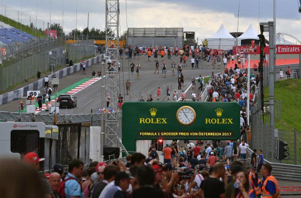 Fans on track at Formula One World Championship, Rd9, Austrian Grand Prix, Preparations, Spielberg, Austria, Thursday 6 July 2017.