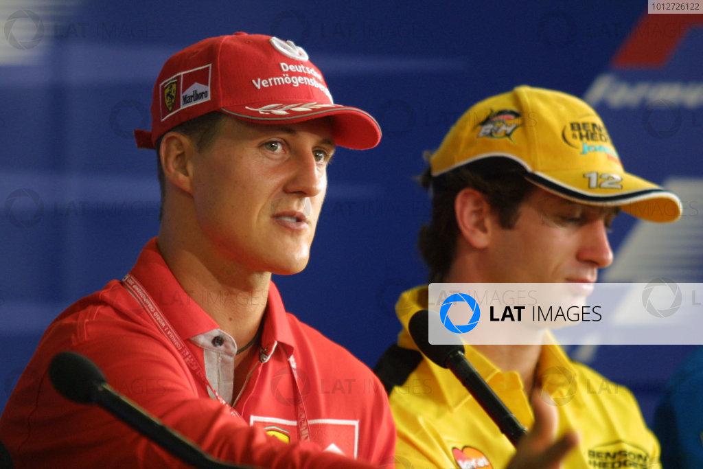 2001 Brazilian Grand Prix - PRESS CONFERENCE