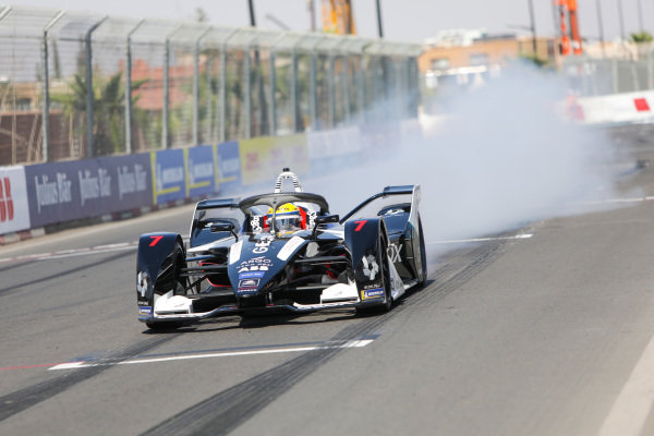Sergio Sette Camara (BRA), Rookie Test Driver for GEOX Dragon, Penske EV-4, does a burn out