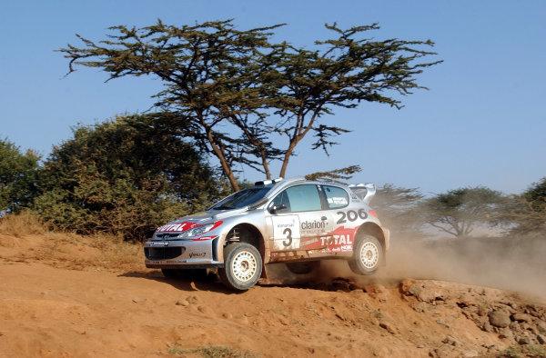 2002 World Rally Championship.Safari Rally, Nairobi Kenya, July 11-14th.Harri Rovanpera on section one.Photo: Ralph Hardwick/LAT