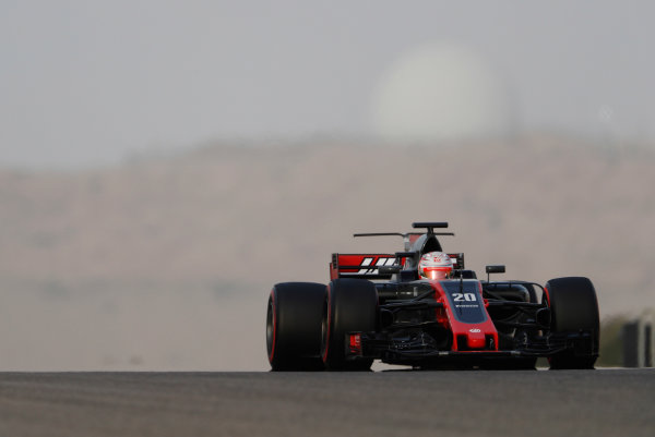 Bahrain International Circuit, Sakhir, Bahrain.  Wednesday 19 April 2017. Kevin Magnussen, Haas VF-17 Ferrari.  World Copyright: Glenn Dunbar/LAT Images ref: Digital Image _X4I4643