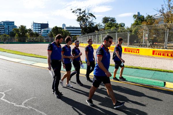Track walk with Pierre Gasly, Toro Rosso.