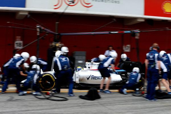 Circuit de Catalunya, Barcelona, Spain Thursday 25 February 2016. Felipe Massa, Williams FW38 Mercedes. World Copyright: Glenn Dunbar/LAT Photographic ref: Digital Image _89P6422