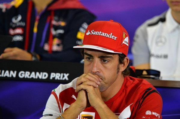 Fernando Alonso (ESP) Ferrari in the Press Conference. Formula One World Championship, Rd1, Australian Grand Prix, Preparations, Albert Park, Melbourne, Australia, Thursday 13 March 2014.