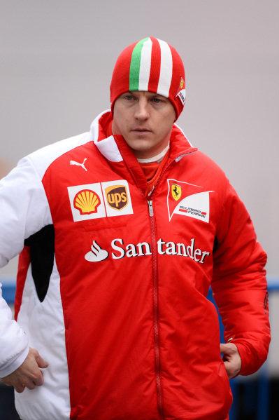 Kimi Raikkonen (FIN) Ferrari. Formula One Testing, Jerez, Spain, Day Two, Wednesday 29 January 2014.