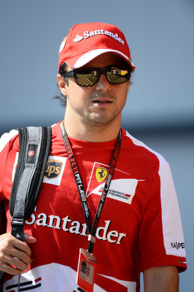 Felipe Massa (BRA) Ferrari. Formula One World Championship, Rd10, Hungarian Grand Prix, Race Day, Hungaroring, Hungary. Sunday 28 July 2013.