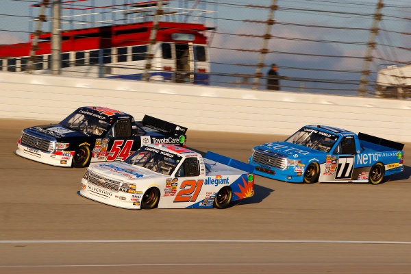 11-12 September, 2014, Joliet, Illinois USA Darrell Wallace Jr, Joey Coulter and German Quiroga Jr ? 2014, Russell LaBounty LAT Photo USA