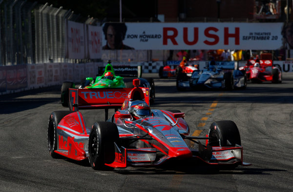 14 July, 2013,  Toronto, Ontario, CAN Sebastien Bourdais leads James Hinchcliffe ©2013, Phillip Abbott LAT Photo USA