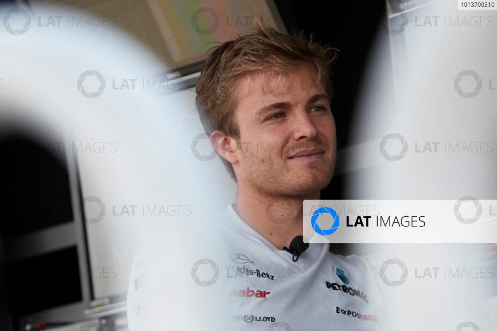 Interlagos, Sao Paulo, Brazil. 24th November 2011. Nico Rosberg, Mercedes GP W02. Portrait.  World Copyright: Steve Etherington/LAT Photographic ref: Digital Image SNE24568