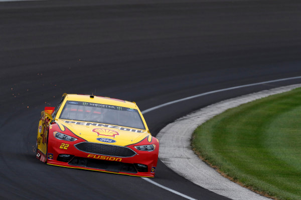 Monster Energy NASCAR Cup Series Brickyard 400 Indianapolis Motor Speedway, Indianapolis, IN USA Saturday 22 July 2017 Joey Logano, Team Penske, Shell Pennzoil Ford Fusion World Copyright: Michael L. Levitt LAT Images