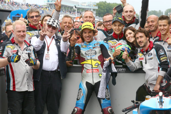 2017 Moto2 Championship - Round 8 Assen, Netherlands Sunday 25 June 2017 Race winner Franco Morbidelli, Marc VDS World Copyright: David Goldman/LAT Images ref: Digital Image 680205