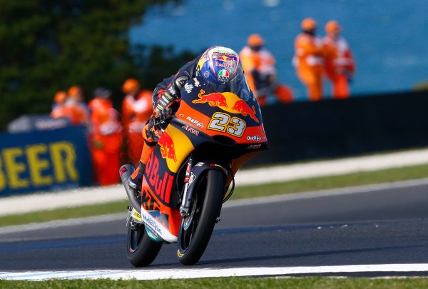 2017 Moto3 Championship - Round 16 Phillip Island, Australia. Friday 20 October 2017 Niccolo Antonelli, Red Bull KTM Ajo World Copyright: Gold and Goose / LAT Images ref: Digital Image 23288