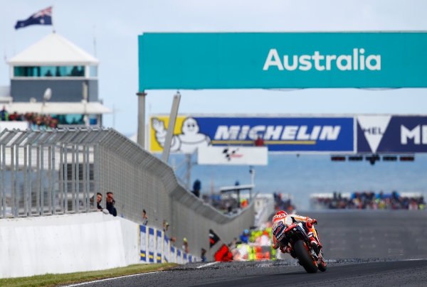 2017 MotoGP Championship - Round 16 Phillip Island, Australia. Sunday 22 October 2017 Marc Marquez, Repsol Honda Team World Copyright: Gold and Goose / LAT Images ref: Digital Image 24462