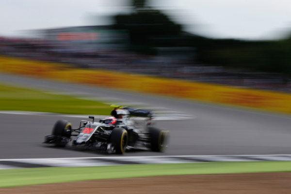 Silverstone, Northamptonshire, UK Friday 8 July 2016. Jenson Button, McLaren MP4-31 Honda. World Copyright: Hone/LAT Photographic ref: Digital Image _ONZ9893