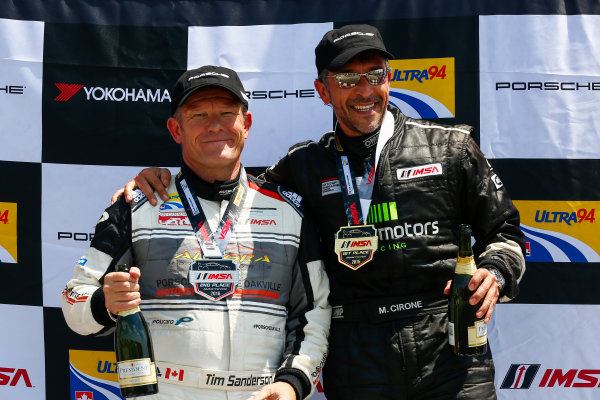 20-22 May 2016, Bowmanville, Ontario, Canada  GT3 Cup Canada, Race 2, Platinum Masters Podium ?2016, Jake Galstad LAT Photo USA