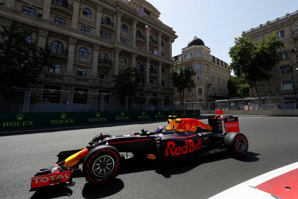 Baku City Circuit, Baku, Azerbaijan. Saturday 18 June 2016. Max Verstappen, Red Bull Racing RB12 TAG Heuer. World Copyright: Glenn Dunbar/LAT Photographic ref: Digital Image _V2I9684