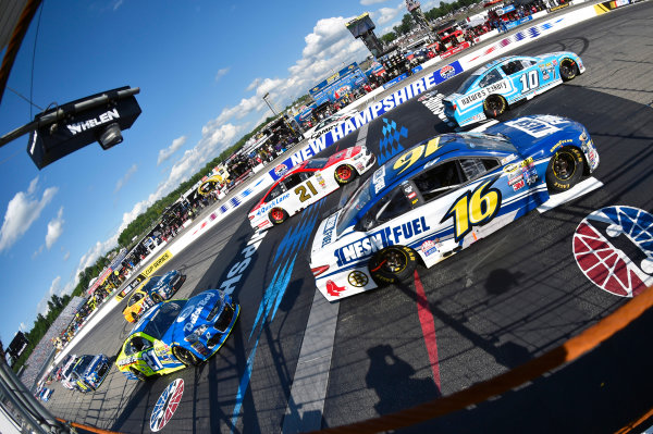 15-17 July, 2016, Loudon, New Hampshire USA Greg Biffle and Danica Patrick ?2015, Nigel Kinrade LAT Photo USA