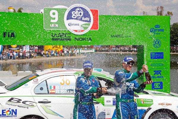 Round 03, Rally Mexico8th -11th March 2012Benito Guerra, Mitsubishi, PodiumWorldwide Copyright: McKlein/LAT