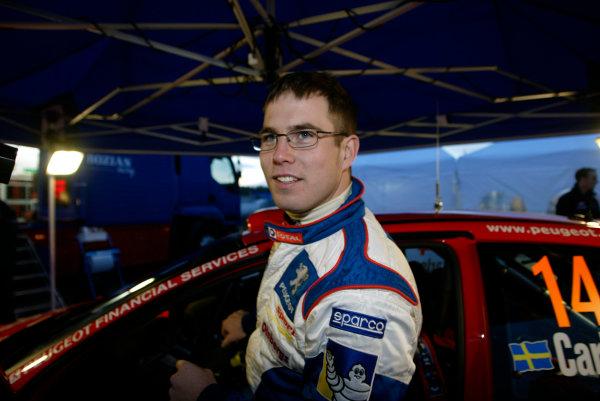 2004 FIA World Rally Champs. Round two, Swedish Rally.5th-8th February 2004.Daniel Carlsson, Peugeot, portrait .World Copyright: McKlein/LAT