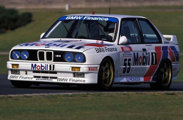 Frank Sytner (GBR) Prodrive BMW M3.Esso British Touring Car Championship, Donington Park, England.  16 September 1990.