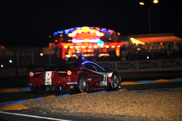 Circuit de La Sarthe, Le Mans, France. 13th - 17th June 2012. Thursday QualifyingAndrea Bertolini/Olivier Beretta/Marco Cioci, AF Course, No 71 Ferrari 458 Italia. Photo: Jeff Bloxham/LAT Photographicref: Digital Image DSC_2039