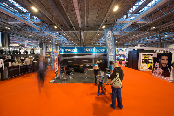 Autosport International Exhibition. National Exhibition Centre, Birmingham, UK. Sunday 11 January 2015. The Yas Marina stand. World Copyright: Malcolm Griffiths/LAT Photographic. ref: Digital Image A50A4241