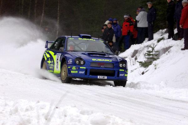 2001 World Rally Championship.   Swedish Rally. 9th - 11th February 2001. Rd 2. Richard Burns during shakedown. World Copyright: Ralph Hardwick/ LAT Photographic. Ref: Burns1