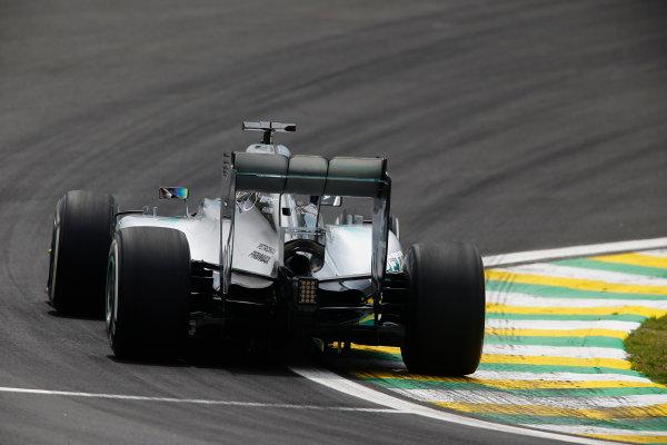 Interlagos, Sao Paulo, Brazil. Friday 7 November 2014. Lewis Hamilton, Mercedes F1 W05 Hybrid. World Copyright: Charles Coates/LAT Photographic. ref: Digital Image _N7T7582