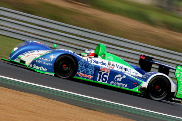 Emmanuel Collard (FRA) / Jean Christophe Boullion (FRA) / Erik Comas (FRA) / Pescarolo Sport Pescarollo Judd, was fastest qualifyer for Saturday's race.
