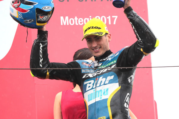 2017 Moto2 Championship - Round 15 Motegi, Japan. Sunday 15 October 2017 Second place Xavi Vierge, Tech 3 Racing World Copyright: Gold and Goose / LAT Images ref: Digital Image 698132
