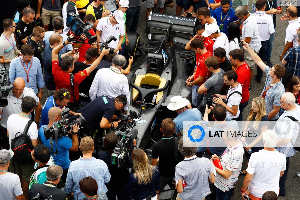 Autodromo Nazionale di Monza, Italy. Thursday 31 August 2017 The new 2018 F2 car in the paddock. Photo: Steven Tee/FIA Formula 2 ref: Digital Image _R3I2066