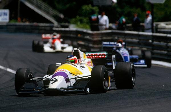 Pau, France. 8th June 1992. Rd 2. Rubens Barrichello (Reynard 92D-Judd Zytek), 3rd position, action.World Copyright: LAT Photographic.Ref: Colour Transparency.