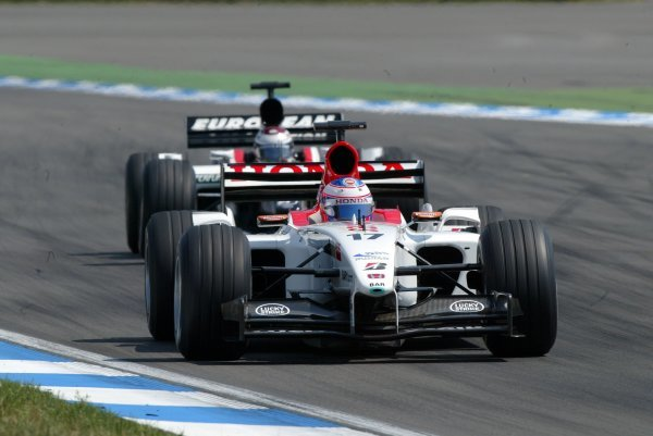 Jenson Button (GBR) BAR Honda 005 finished eighth.