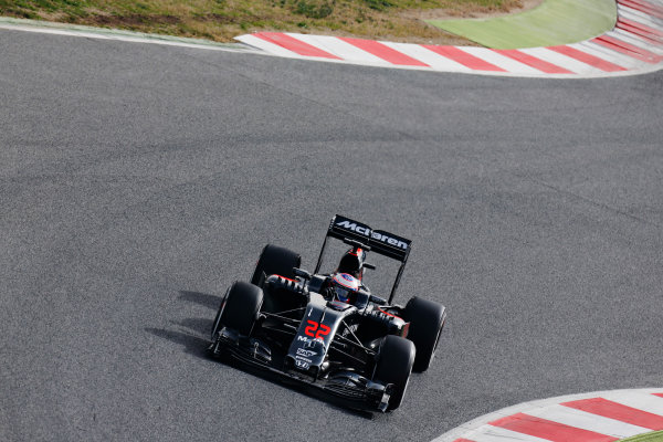 Circuit de Catalunya, Barcelona, Spain Monday 22 February 2016. Jenson Button, McLaren MP4-31 Honda. World Copyright: Alastair Staley/LAT Photographic ref: Digital Image _R6T7033