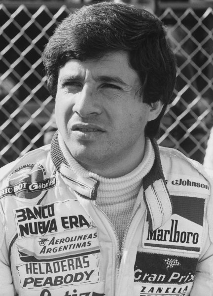 Imola, Italy. 1st - 3rd May 1981. Rd 4.Miguel Angel Guerra (Osella FA1B Ford), retired, portrait.World Copyright: LAT Photographic.Ref: B/W Print.