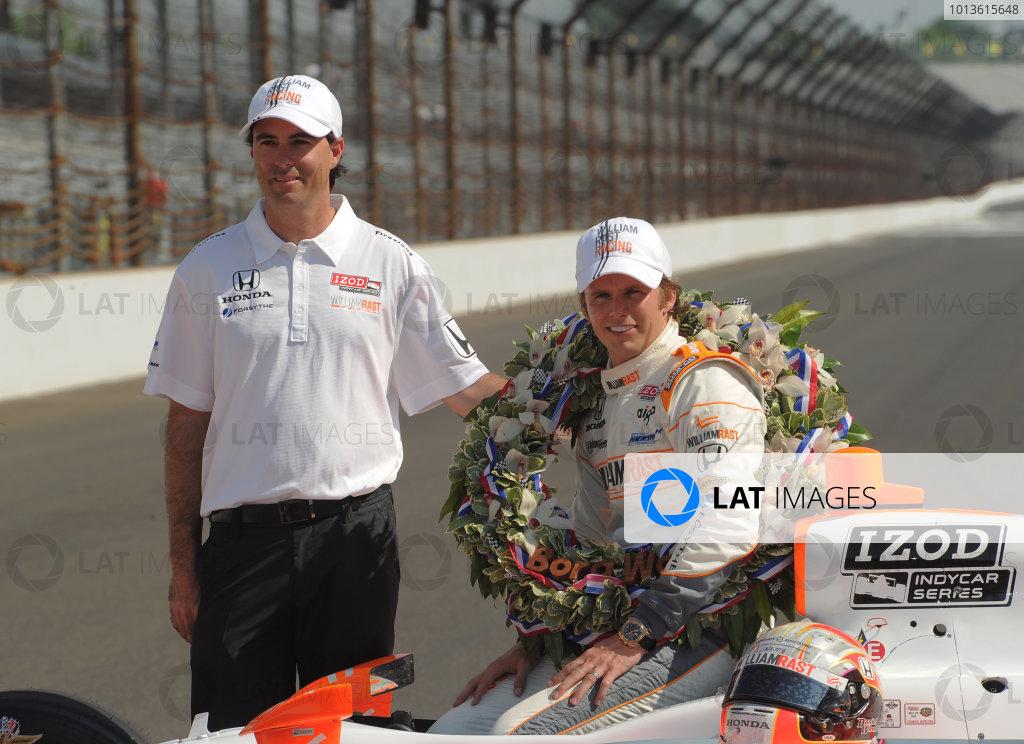 23  May 2011, Indianapolis, Indiana USA2011 Indy 500 winner, Dan Wheldon with Byran Herta©2011 Dan R. Boyd Lat Photo USA