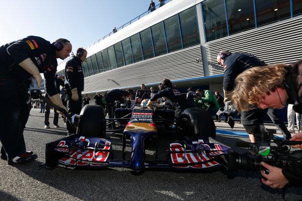 2014 F1 Pre Season Test 1 - Preview Circuito de Jerez, Jerez, Spain. Tuesday 28 January 2014. Jean-Eric Vergne, Toro Rosso STR9 Renault. World Copyright: Andrew Ferraro/LAT Photographic. ref: Digital Image _79P0703