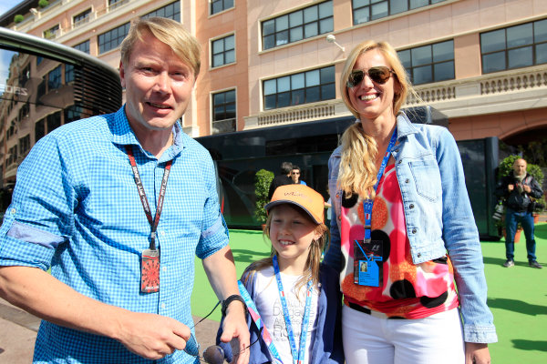 Monte Carlo, Monaco 25th May 2013 Mika Hakkinen and family visit the paddock.  World Copyright: Charles Coates/LAT Photographic ref: Digital Image _X5J3935