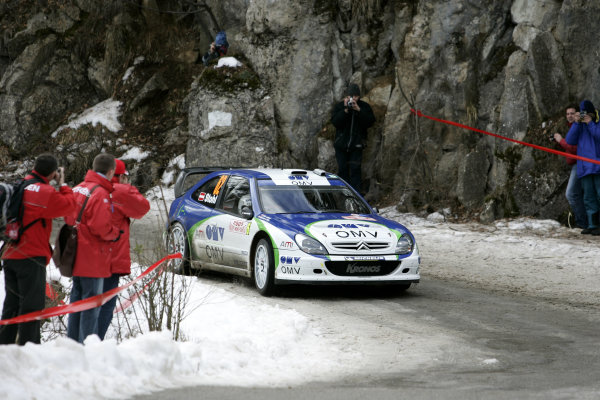 2005 FIA World Rally Champs. Round one, Rally Monte Carlo 20th-23rd January 2005. Manfred Stohl, Citreon, action World Copyright: McKlein/LAT