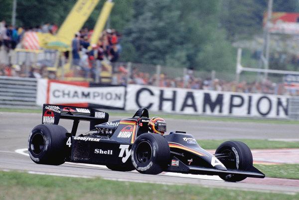 1984 San Marino Grand Prix.Imola, Italy.4-5 May 1984.Stefan Bellof (Tyrrell 012 Ford).Ref-84 SM 18.World Copyright - LAT Photographic