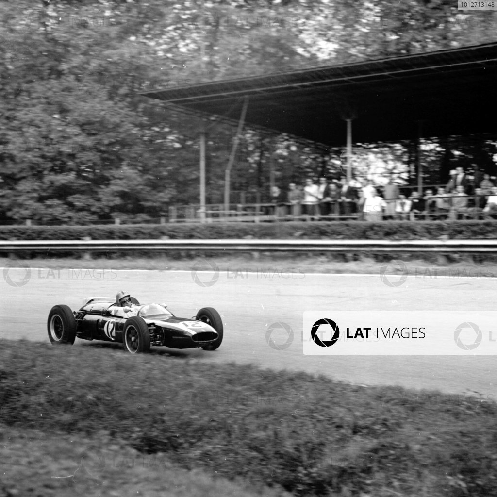 1961 Italian Grand Prix, Monza, Italy.Bruce McLaren (Cooper T55-Climax), 3rd position.Ref-10611.World - LAT Photographic