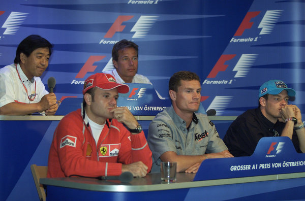 2000 Austrian Grand Prix.A1-Ring, Zeltweg, Austria.14-16 July 2000.Drivers and other people in a press conference.World Copyright - Etherington/LAT Photographic