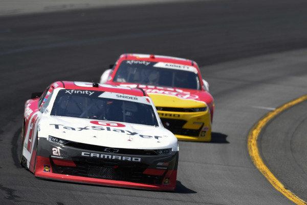 #21: Myatt Snider, Richard Childress Racing, Chevrolet Camaro TaxSlayer
