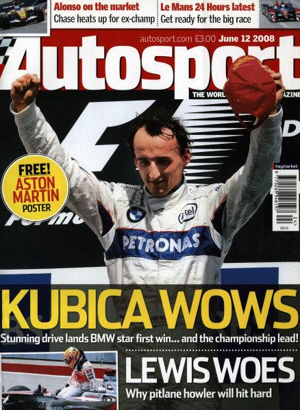 Cover of Autosport magazine, 12th June 2008