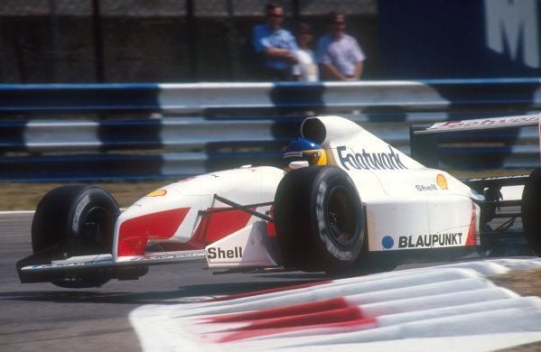 1991 Italian Grand Prix.Monza, Italy.6-8 September 1991.Michele Alboreto (Footwork FA12 Ford). He failed to qualify.Ref-91 ITA 04.World Copyright - LAT Photographic