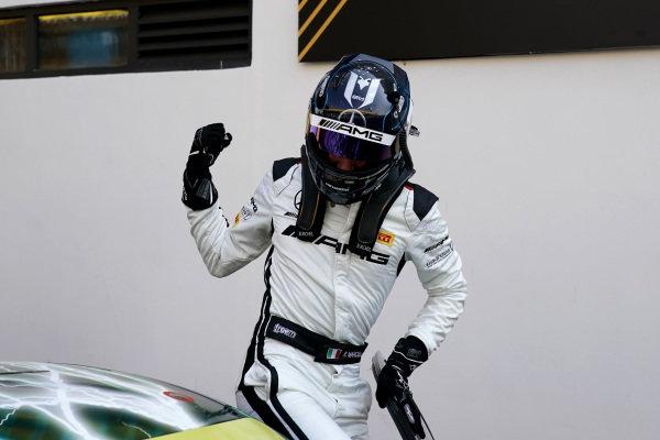 Race winner #999 Mercedes-AMG Team GruppeM Racing Mercedes AMG GT3: Raffaele Marciello.