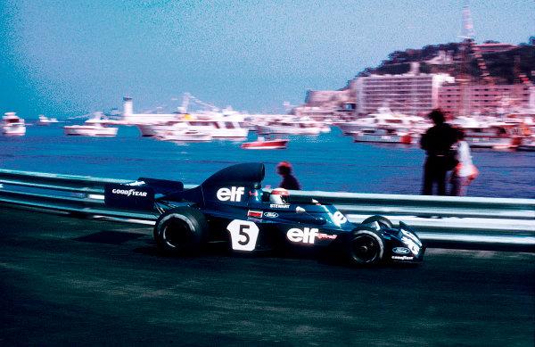1973 Monaco Grand Prix.Monte Carlo, Monaco.31/5-3/6 1973.Jackie Stewart (Tyrrell 006 Ford) 1st position.Ref-73 MON 56.World Copyright - LAT Photographic