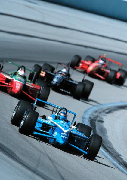 1999 CART MIAMI GP, 21-3-99, Homestead, FL, USAGreg Moore leads. -1999, Phillip G. Abbott, LAT Photographic